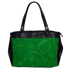 Green Floral Star Butterfly Flower Office Handbags