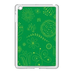 Green Floral Star Butterfly Flower Apple Ipad Mini Case (white)