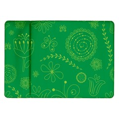 Green Floral Star Butterfly Flower Samsung Galaxy Tab 10 1  P7500 Flip Case