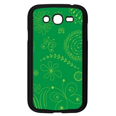 Green Floral Star Butterfly Flower Samsung Galaxy Grand Duos I9082 Case (black)