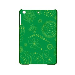 Green Floral Star Butterfly Flower Ipad Mini 2 Hardshell Cases