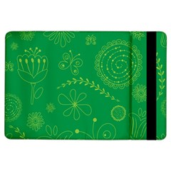 Green Floral Star Butterfly Flower Ipad Air Flip by Jojostore