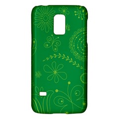 Green Floral Star Butterfly Flower Galaxy S5 Mini by Jojostore