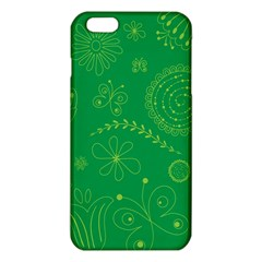 Green Floral Star Butterfly Flower Iphone 6 Plus/6s Plus Tpu Case by Jojostore