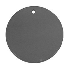 Plain Grey Ornament (round) by Jojostore