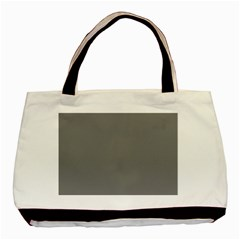 Plain Grey Basic Tote Bag (two Sides) by Jojostore