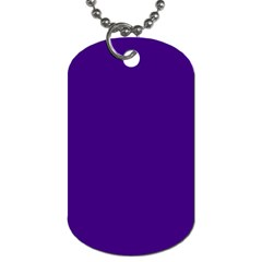 Plain Violet Purple Dog Tag (two Sides) by Jojostore