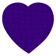 Plain Violet Purple Jigsaw Puzzle (heart)