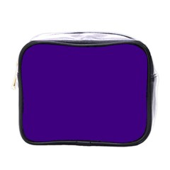 Plain Violet Purple Mini Toiletries Bags by Jojostore