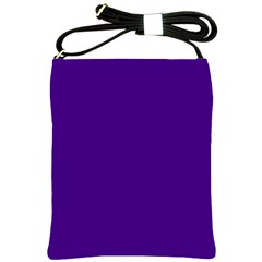 Plain Violet Purple Shoulder Sling Bags by Jojostore