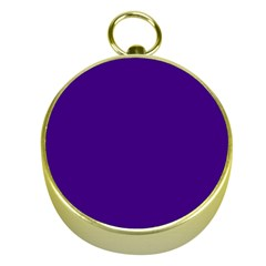 Plain Violet Purple Gold Compasses by Jojostore