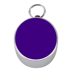 Plain Violet Purple Mini Silver Compasses by Jojostore