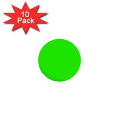 Plain Green 1  Mini Buttons (10 Pack)