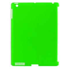 Plain Green Apple Ipad 3/4 Hardshell Case (compatible With Smart Cover) by Jojostore