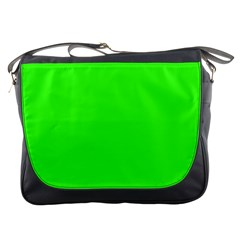 Plain Green Messenger Bags by Jojostore