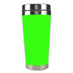 Plain Green Stainless Steel Travel Tumblers by Jojostore