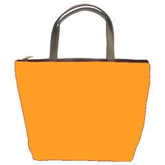 Plain Orange Bucket Bags by Jojostore