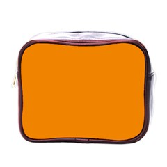 Plain Orange Mini Toiletries Bags by Jojostore