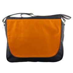 Plain Orange Messenger Bags by Jojostore