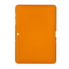 Plain Orange Samsung Galaxy Tab 2 (10 1 ) P5100 Hardshell Case  by Jojostore