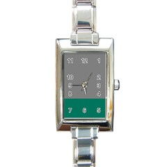Trolley Grey Green Tropical Rectangle Italian Charm Watch