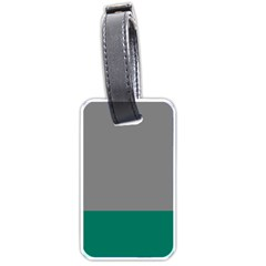 Trolley Grey Green Tropical Luggage Tags (two Sides) by Jojostore