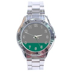 Trolley Grey Green Tropical Stainless Steel Analogue Watch by Jojostore