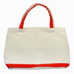 Plain White Classic Tote Bag (red) by Jojostore