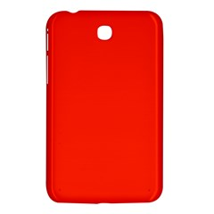 Plain Orange Red Samsung Galaxy Tab 3 (7 ) P3200 Hardshell Case  by Jojostore