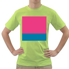 Trolley Pink Blue Tropical Green T-shirt by Jojostore