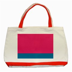 Trolley Pink Blue Tropical Classic Tote Bag (red)