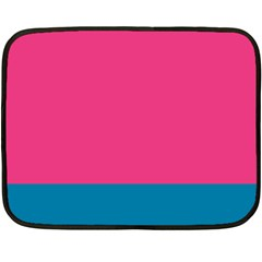 Trolley Pink Blue Tropical Double Sided Fleece Blanket (mini)