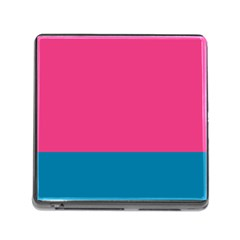 Trolley Pink Blue Tropical Memory Card Reader (square) by Jojostore