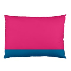 Trolley Pink Blue Tropical Pillow Case (two Sides) by Jojostore