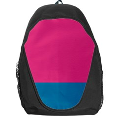 Trolley Pink Blue Tropical Backpack Bag by Jojostore