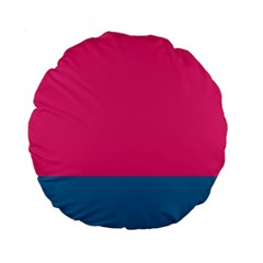 Trolley Pink Blue Tropical Standard 15  Premium Round Cushions by Jojostore