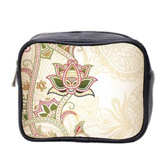 Floral Flower Star Leaf Gold Mini Toiletries Bag 2 Side by Jojostore