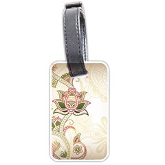 Floral Flower Star Leaf Gold Luggage Tags (one Side)  by Jojostore