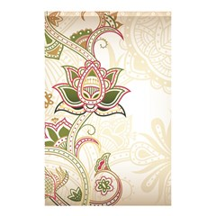 Floral Flower Star Leaf Gold Shower Curtain 48  X 72  (small)