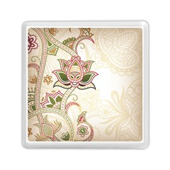 Floral Flower Star Leaf Gold Memory Card Reader (square)  by Jojostore