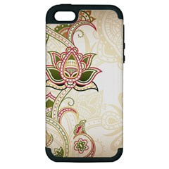 Floral Flower Star Leaf Gold Apple Iphone 5 Hardshell Case (pc+silicone) by Jojostore