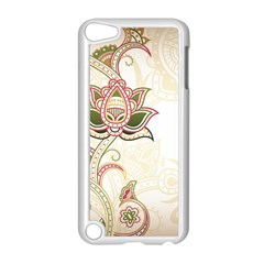 Floral Flower Star Leaf Gold Apple Ipod Touch 5 Case (white) by Jojostore