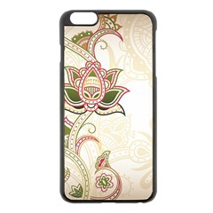 Floral Flower Star Leaf Gold Apple Iphone 6 Plus/6s Plus Black Enamel Case by Jojostore