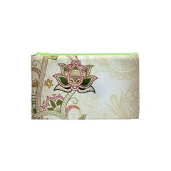 Floral Flower Star Leaf Gold Cosmetic Bag (xs) by Jojostore
