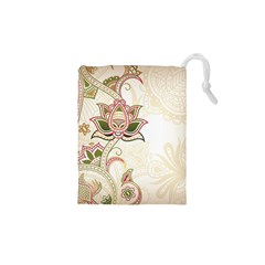 Floral Flower Star Leaf Gold Drawstring Pouches (xs)