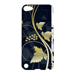 Tree Leaf Flower Circle White Blue Apple Ipod Touch 5 Hardshell Case by Jojostore