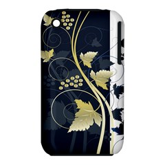 Tree Leaf Flower Circle White Blue Iphone 3s/3gs by Jojostore