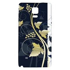Tree Leaf Flower Circle White Blue Galaxy Note 4 Back Case by Jojostore