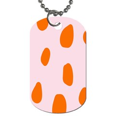 Polka Dot Orange Pink Dog Tag (one Side) by Jojostore