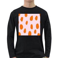 Polka Dot Orange Pink Long Sleeve Dark T Shirts